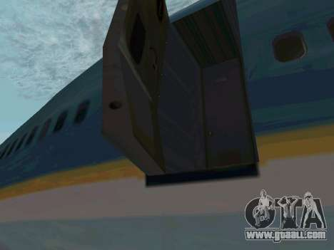 Boeing-747-400 Airforce one for GTA San Andreas back left view