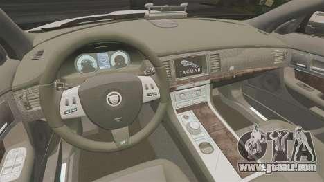 Jaguar XFR 2010 Police Marked [ELS] for GTA 4 inner view