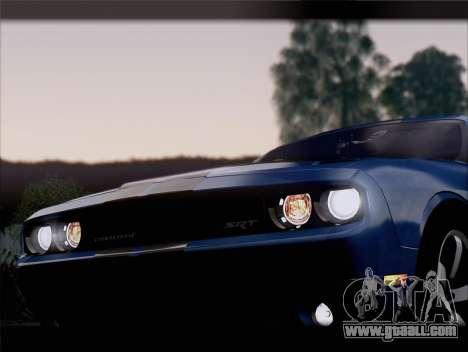 Dodge Challenger SRT8 2012 HEMI for GTA San Andreas engine
