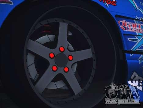 Nissan Silvia S13 Toyo for GTA San Andreas back view