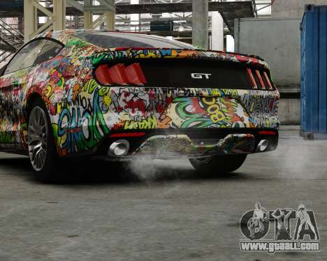 Ford Mustang GT 2015 Sticker Bombed for GTA 4 left view
