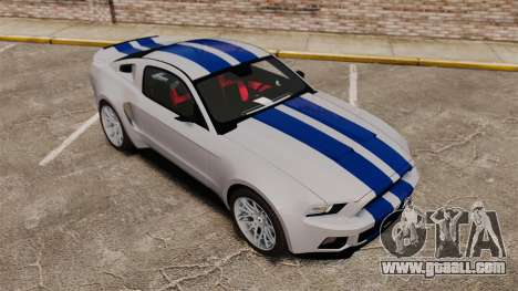 Ford Mustang GT 2013 Widebody NFS Edition for GTA 4 interior