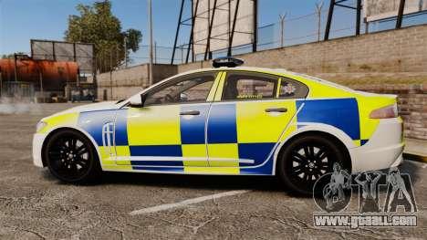 Jaguar XFR 2010 Police Marked [ELS] for GTA 4 left view