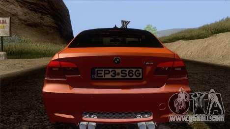 BMW M3 E92 2008 Vossen for GTA San Andreas bottom view