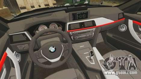 BMW F30 328i Metropolitan Police [ELS] for GTA 4 side view