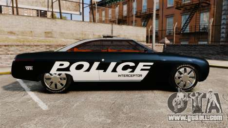 Ford Forty Nine Concept 2001 Police [ELS] for GTA 4 left view