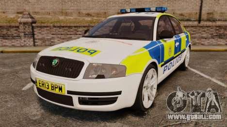 Skoda Superb 2006 Police [ELS] Whelen Edge for GTA 4