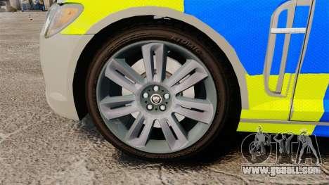 Jaguar XFR 2010 West Midlands Police [ELS] for GTA 4 back view