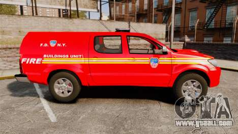 Toyota Hilux FDNY [ELS] for GTA 4 left view