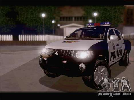 Mitsubishi L200 POLICIA for GTA San Andreas left view