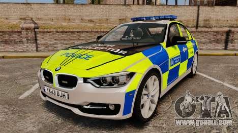BMW F30 328i Metropolitan Police [ELS] for GTA 4