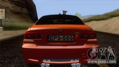 BMW M3 E92 2008 Vossen for GTA San Andreas upper view
