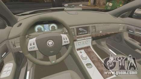 Jaguar XFR 2010 West Midlands Police [ELS] for GTA 4 inner view