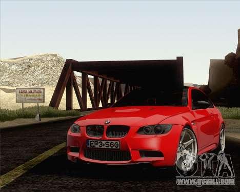 BMW M3 E92 2008 Vossen for GTA San Andreas interior