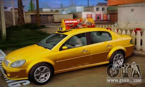 Declasse Premier Taxi for GTA San Andreas inner view
