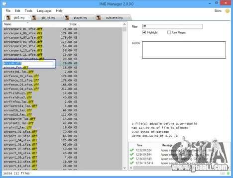 IMG Manager 2.0 for GTA San Andreas third screenshot