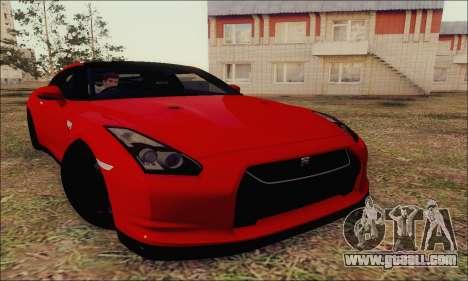 Nissan GT-R Spec V for GTA San Andreas inner view