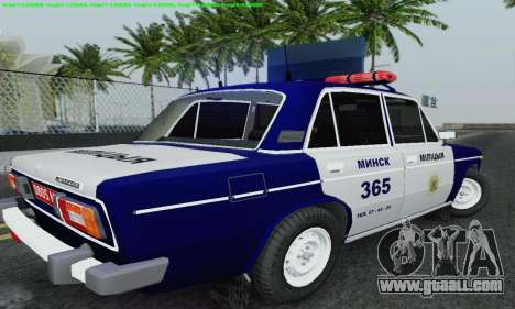 VAZ 2106 Police for GTA San Andreas bottom view