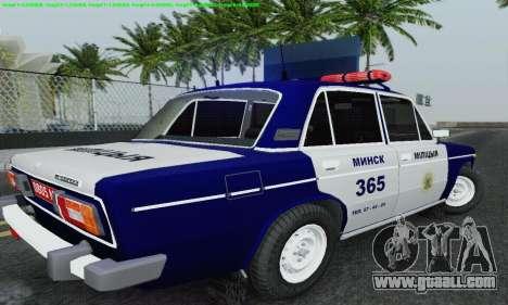 VAZ 2106 Police for GTA San Andreas bottom view