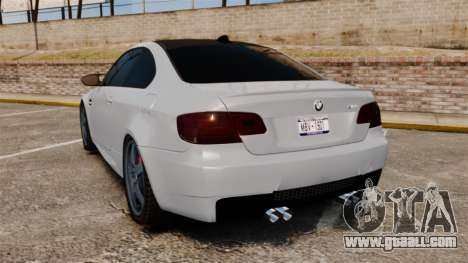 BMW M3 E92 for GTA 4 back left view