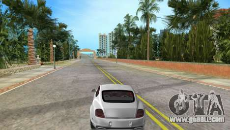 Bentley Continental Extremesports for GTA Vice City back left view