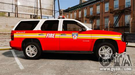 Chevrolet Tahoe Fire Chief v1.4 [ELS] for GTA 4 left view