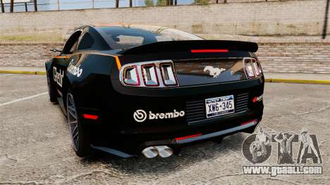 Ford Mustang GT 2013 NFS Edition for GTA 4 back left view