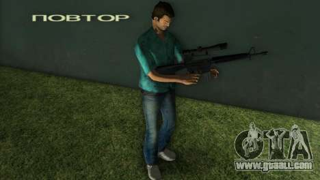 M-16 with a Sniper Gun for GTA Vice City second screenshot