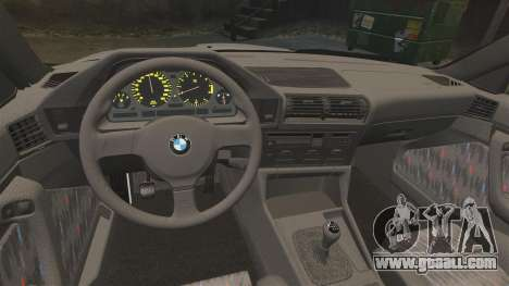 BMW M5 E34 for GTA 4 back view