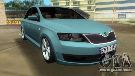 Skoda Rapid 2013 for GTA Vice City