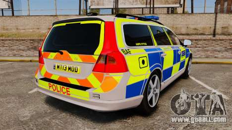 Volvo V70 Metropolitan Police [ELS] for GTA 4 back left view