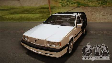 Volvo 850 Estate Turbo 1994 for GTA San Andreas upper view