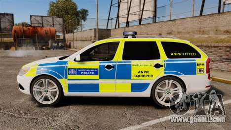 Skoda Octavia Scout RS Metropolitan Police [ELS] for GTA 4 left view