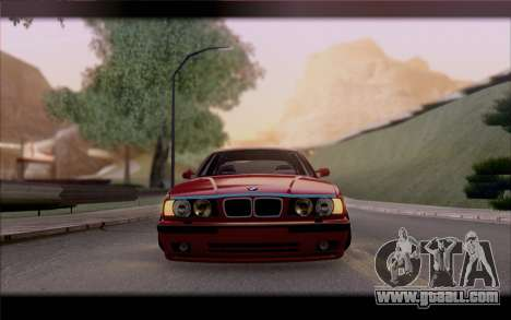 BMW E34 for GTA San Andreas inner view