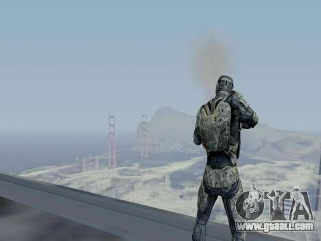 Korean Nano-suit of Crysis for GTA San Andreas sixth screenshot