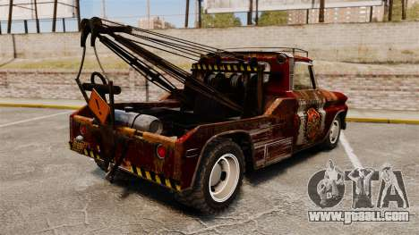 Chevrolet Tow truck rusty Rat rod for GTA 4 back left view