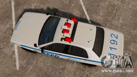 GTA V Police Vapid Cruiser NYPD for GTA 4 right view