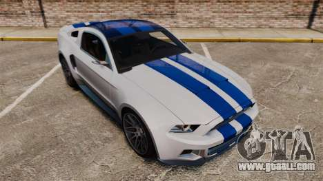Ford Mustang GT 2013 NFS Edition for GTA 4 upper view