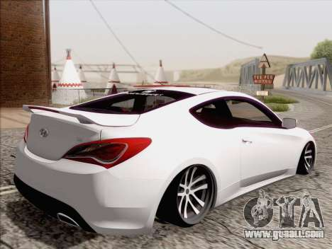 Hyundai Genesis Stance for GTA San Andreas left view