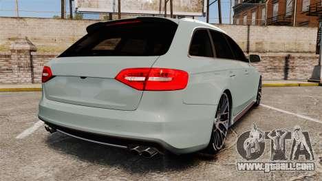 Audi RS4 Avant for GTA 4 back left view