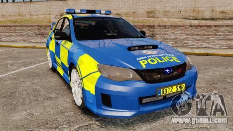 Subaru Impreza WRX STI 2011 Police [ELS] for GTA 4