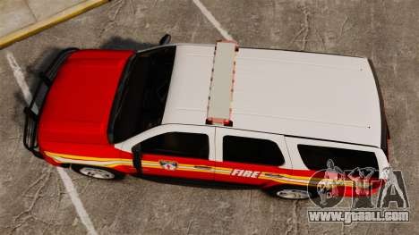 Chevrolet Tahoe Fire Chief v1.4 [ELS] for GTA 4 right view