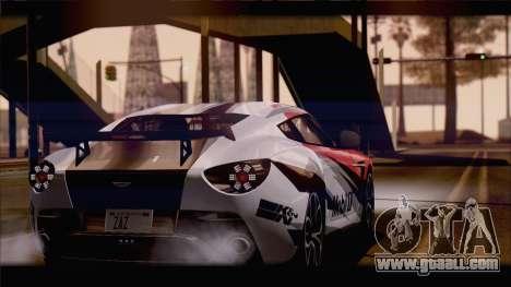 Aston Martin V12 Zagato 2012 [HQLM] for GTA San Andreas left view