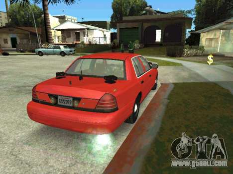 Ford Crown Victoria Unmarked Police for GTA San Andreas left view