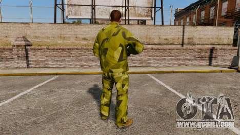The Swedish camouflage uniform for GTA 4 second screenshot