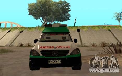 Mercedes-Benz Vito Ambulancia ACHS 2012 for GTA San Andreas inner view