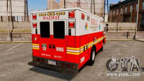 Hazmat Truck FDLC [ELS] for GTA 4 back left view