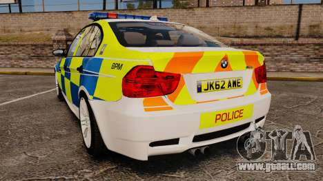 BMW M3 British Police [ELS] for GTA 4 back left view