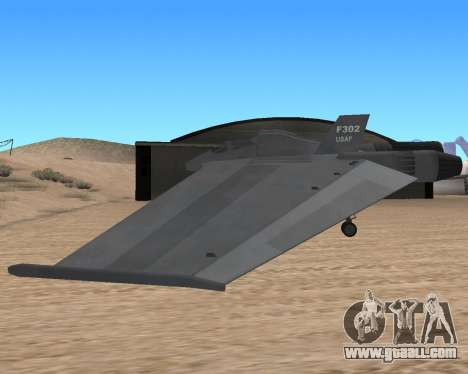 StarGate F-302 for GTA San Andreas back view