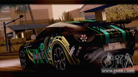 Aston Martin V12 Zagato 2012 [HQLM] for GTA San Andreas back view